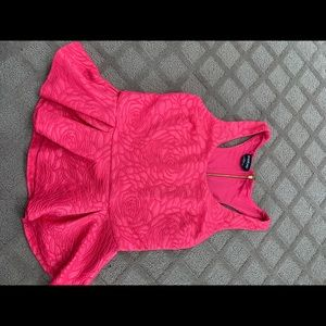 Pink ruffle bottom shirt